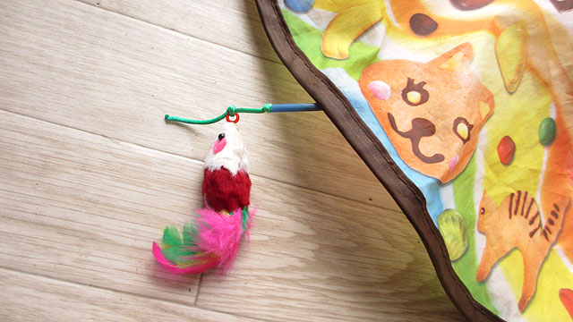キャッチ・ミー・イフ・ユー・キャン2にネズミの玩具を取り付けてみた