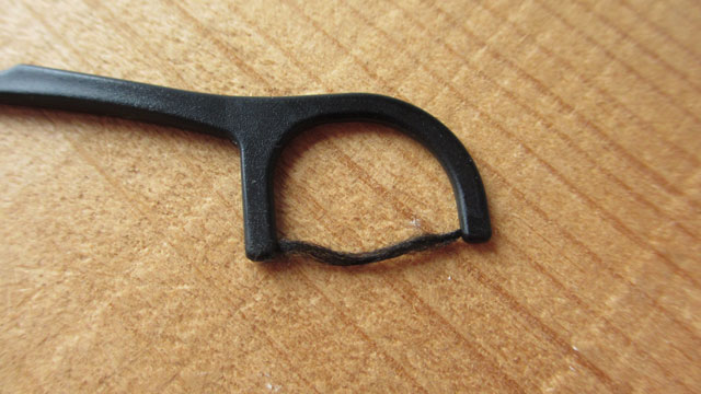 セリア 糸ようじの耐久性