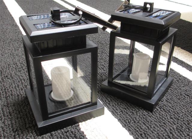太陽光パネル搭載 ソーラーランタン 2個セット  レビュー