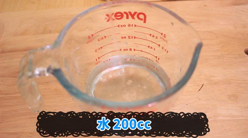 寒天ゼリーの作り方(水200cc)